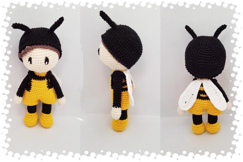 Crochet Toys  Amigurumi  Bee Boy      Model    Number  LS001