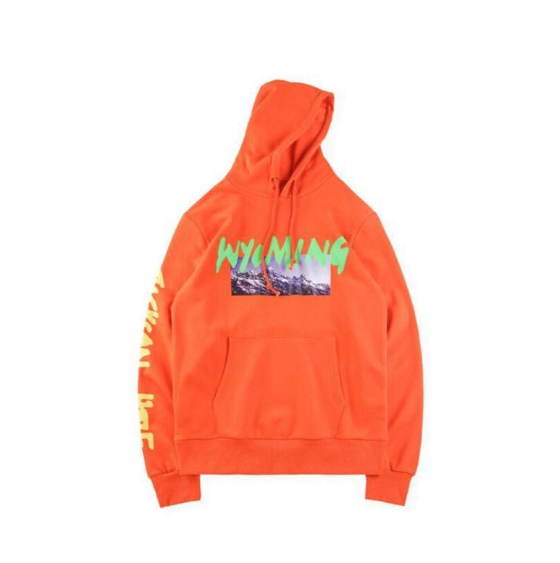 Kanye West Wyoming LISTENING PARTY Hoody Season 5 OVERSIZE Mountains Pattern Letter Printing Men Hoodies Hip Hop Sweatshirt