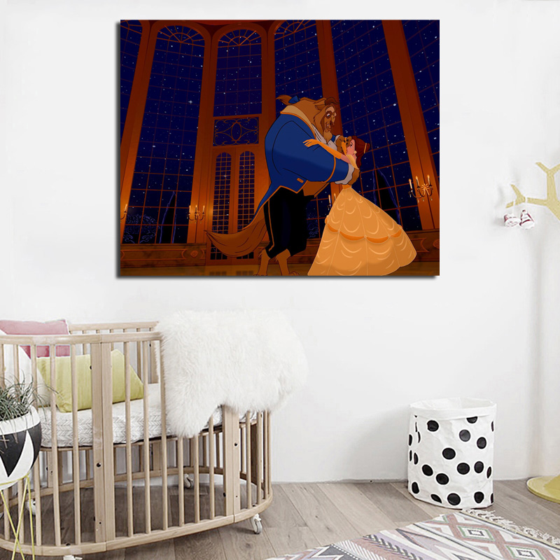 Beauty Beast Belle Dancing Wall Art Canvas Posters Prints Oil Painting Pictures For Bedroom Modern Home Decor Accessories