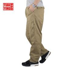37534d3da4 Pantalones Cargo hombres algodón Jogger caqui estiramiento chicos moda Casual  pantalones Fitness ejército militar más tamaño