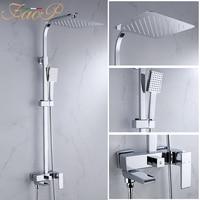 Vender Sistema de ducha FAOP grifo mezclador cromado para baño mezclador juego de ducha de baño grifo