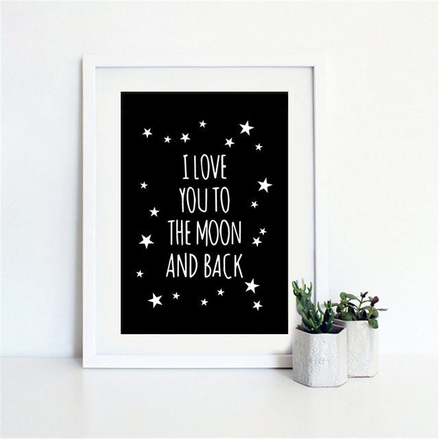 Haochu nordic mural prints romantic love quote diy canvas art painting no frame black and white