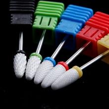 Nail Drill Cutters Ceramic Milling Cutters for Manicure Nail Drill Bit Electric Manicure Machine Accessories Nail Art Files Tool