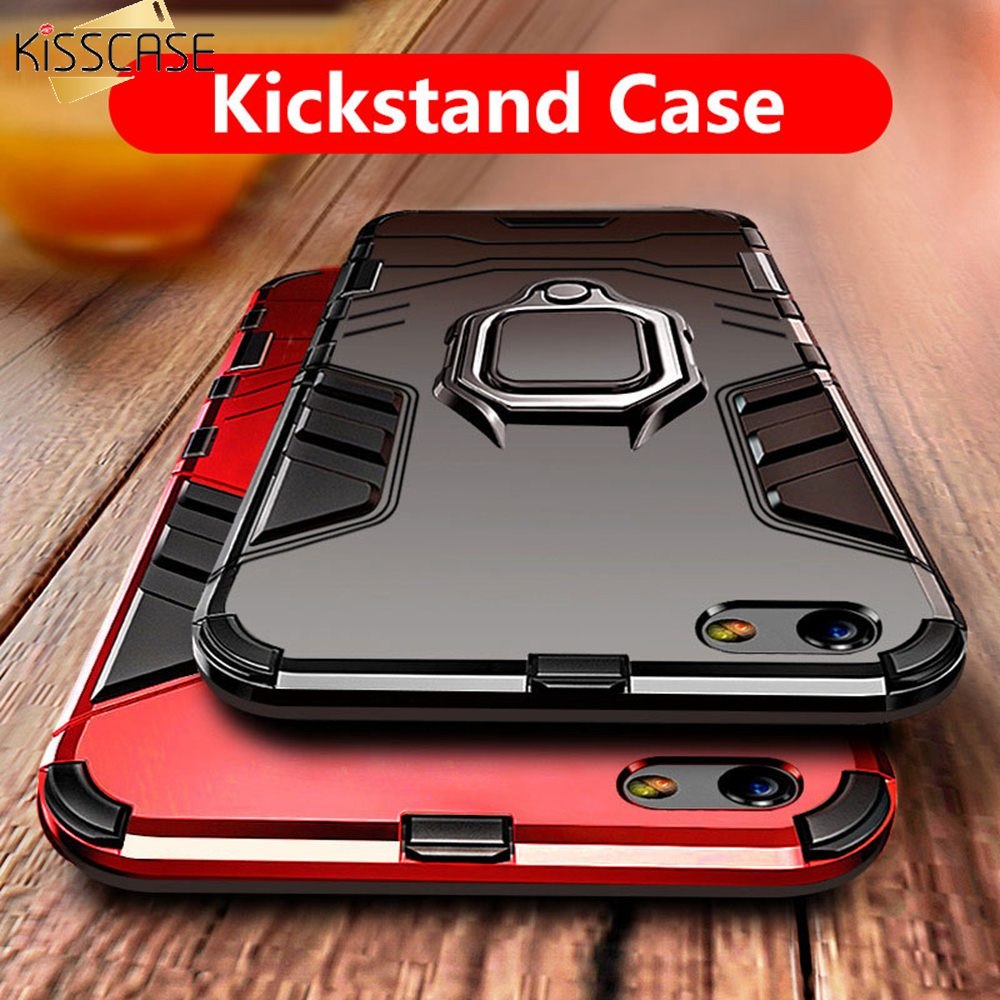 KISSCASE Shockproof Case For iPhone 5 5S SE X XS Max XR Magnetic Car Phone Finger Holder Cases For iPhone 6 6S 8 7 Plus Capinhas iphone xr case magnetic