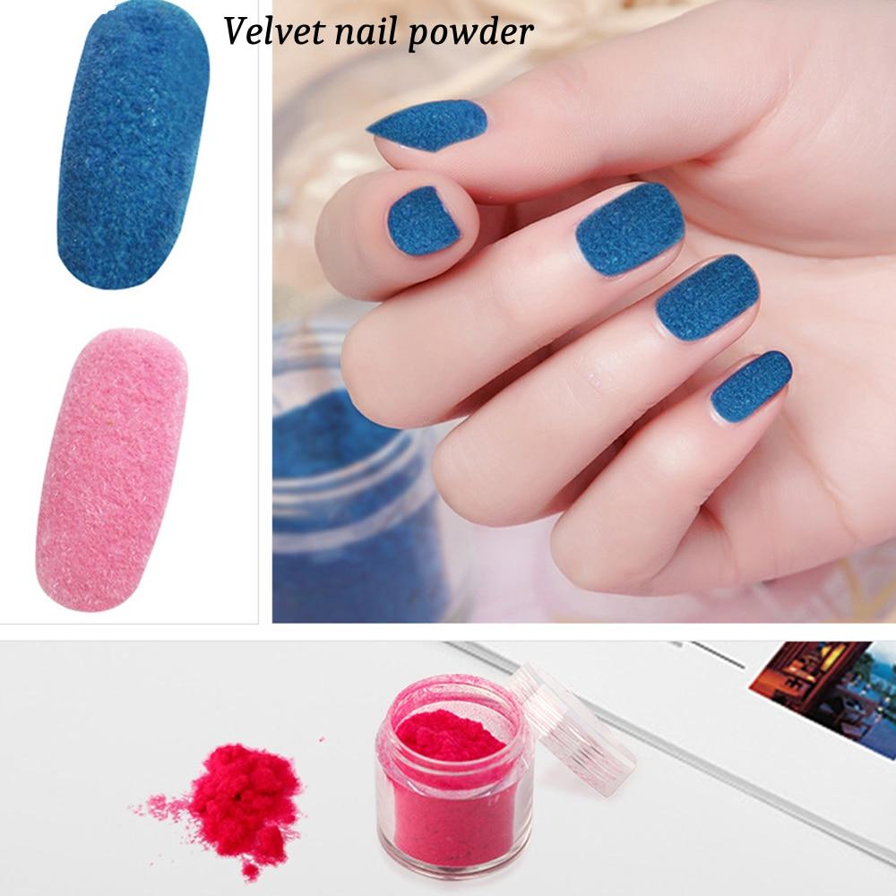 10gbox Winter Matte Velvet Flocking Nail Glitter Powder Dust Diy