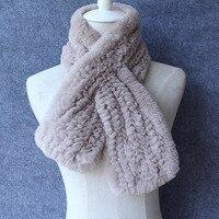2017 New Arrive 100 Real Rex Rabbit Fur Scarf For Women Luxury Brand Winter Warm Soft