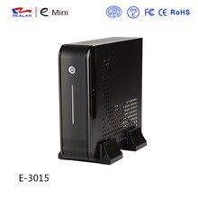 Realan Schwarz Mini-itx-gehäuse E-3015 mit 120 Watt DC Netzteil 12 V 5A Adapter