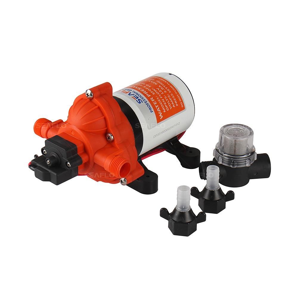 SEAFLO 3 Chamber Water Pump 12v 45PSI 3 0 GPM Self Priming Marine Diaphragm Pump Caravan