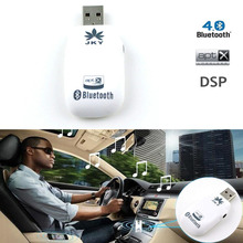 JKY Mini USB Bluetooth Music Receiver Wireless 3.5mm Stereo Audio Adapter for Car Headphone Speakers