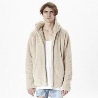 Hip Hop Skateboard Urban Clothes Men Hoodies Hooded Cardigan Sherpa Hoodie Streetwear Cool Kanye West Clothing