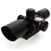 2.5-10×40 Pro Télescope Lunette Tactique Fusil Portée Avec rouge Laser Double Illuminé Mil-dot W/Rail Mount s Pour La Chasse