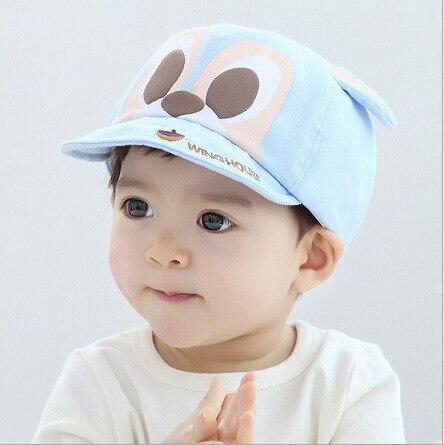 adjustable cute baby boy cap cute cartoon squirrel baseball caps for