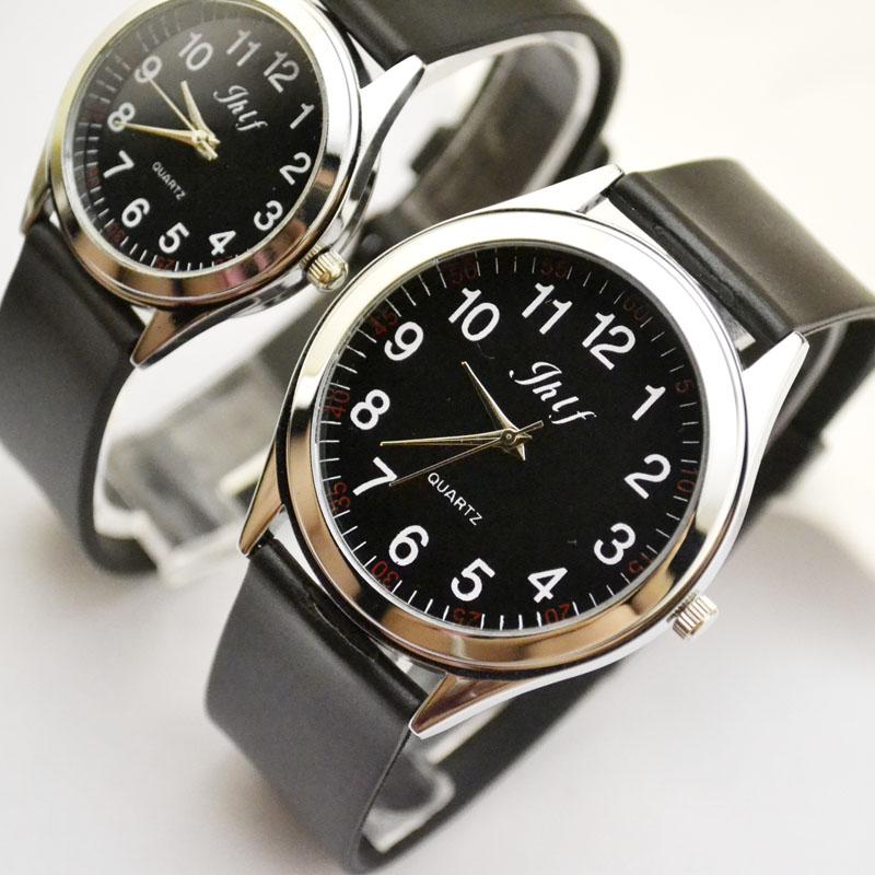 New fashion, simplified Korean version, genuine leather belt watch, male and female fashion, Korean student digital couple quart