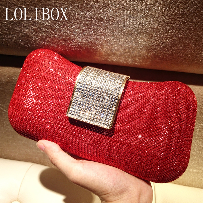 ФОТО Women Bags Diamond Clutch Bag  Bridal Gowns Packet Chain Bag Ladies Evening Bag For Party Day Clutches Purses And Handbag