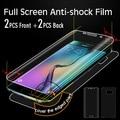 Tpu protector de pantalla transparente para samsung galaxy s6 edge delantero y protector de pantalla para samsung s6 edge 2 delantera + trasera 2 + 1 caso