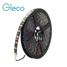 Black FPCB DC12V LED strip 5050 60LED/m,5m/lot flexible light IP20 / IP65 Waterproof LED STRIP RGB, White, Warm white(China)