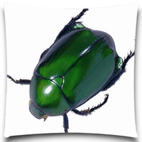 Fluorescent Beetle Fly Sqaure Cushion Cover For Sofa Decorative Throw Pillow Case Cotton Polyester Sofa Decor
