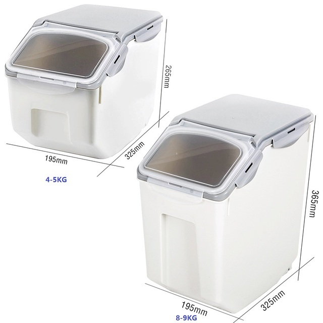 Bon 5KG Sealed Pet Dry Food Container Dog Food Storage Bucket Roller With Spoon