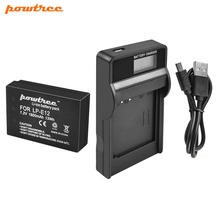 Powtree For Canon 7.2V 1800mAh LP-E12 LP E12 LPE12 Li-ion Battery +LCD USB Charger Replacement EOS Rebel SL1 Kiss X7 100D M100 powtree for canon 7 2v 1800mah 2pcs lp e12 lp e12 lpe12 digital camera battery replacement eos m50 eos m100 100d kiss x7 rebel