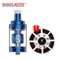Free Gift Coil New Digiflavor Siren 2 GTA 2ml & 4.5ml Capacity MTL Genisis Tank for Electronic Cigarette MOD 2 Version Available