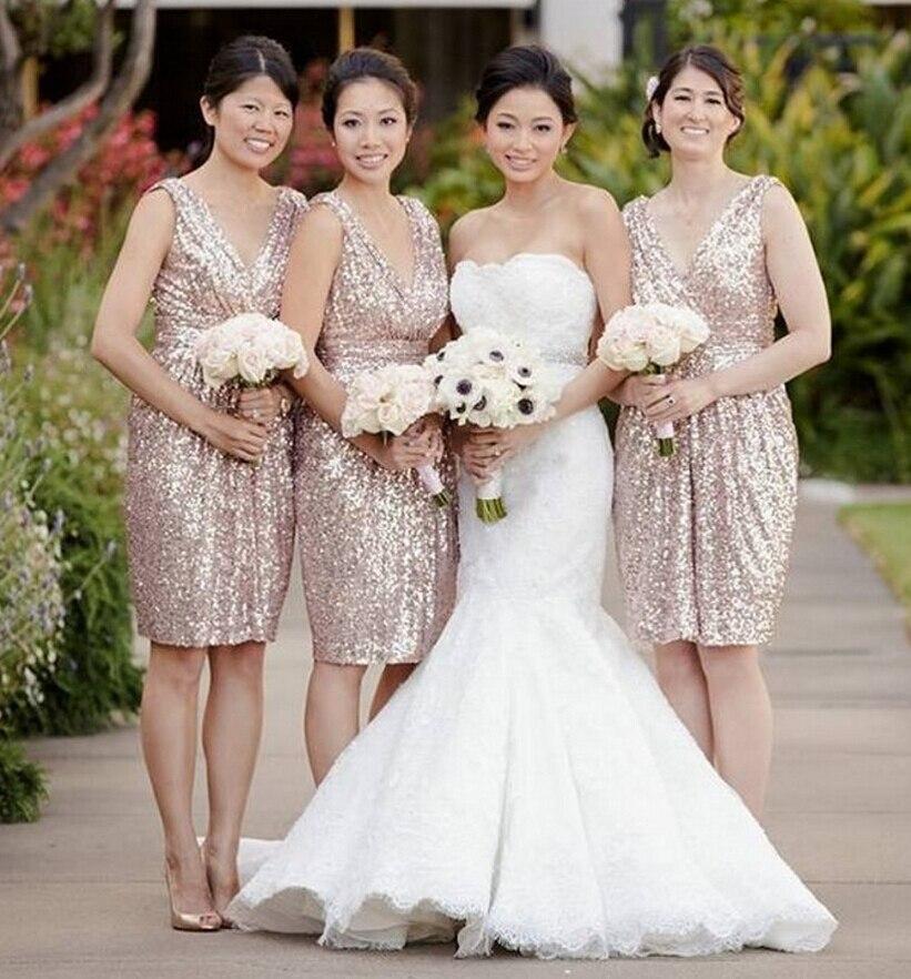 Popular Bridesmaid Dresses Gold Champagne-Buy Cheap Bridesmaid ...