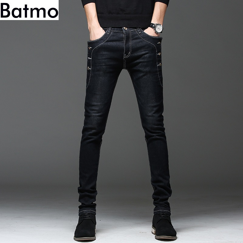 Batmo 2019 New Arrival High Quality Casual Slim Jeans Men ,men's Pencil Pants ,skinny Jeans Men 8905
