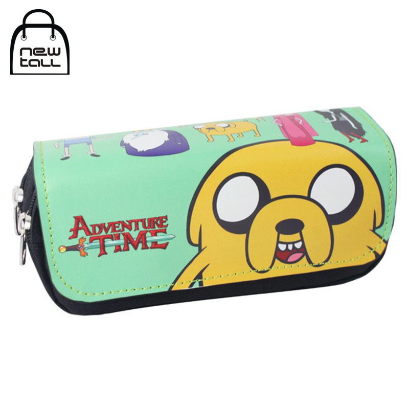 [NEWTALL] Adventure Time Jake The Dog Pencil Case Organizer Wallet Magic Stick Cover Double Zipper Stationery Bag T1384 the porcelain dog