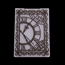 New Retro Clock Embossing Folder Stencils for DIY Scrapbooking Plastic Handmade Template Crafts Art Diary Decor Painting Tool