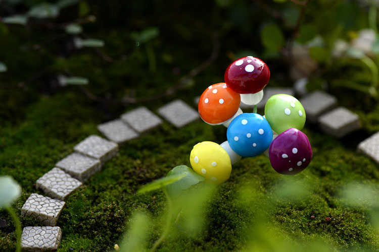 miniature mushrooms for fairy gardens