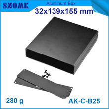 hot selling anodizing aluminum cabinet (10pcs) smooth surface switch box 32*139*155mm