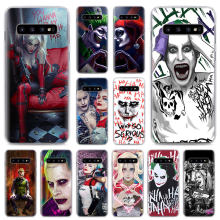 Joker Harley Quinn do Esquadrão Suicida Phone Cases para Samsung Galaxy S10e S10 S8 S9 Plus M10 M20 M30 A50 S6 s7 Borda Dura da tampa do caso(China)