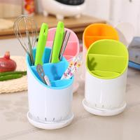 Kitchen Storage Shelf Sub Grid Plastic Chopsticks Tube Tableware Kitchenware Drain Stand