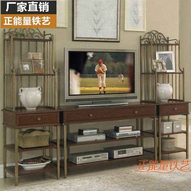 Retro Rustico Americano Mueble Tv Madera Maciza Salon Dormitorio