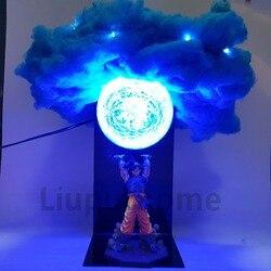 Figura de acción de Dragon Ball Z, Son Goku, Genki, damaSpirit, bomba, Cloud, DIY, luces LED de noche, Anime, DBZ, lámpara Led de mesa, Son Goku