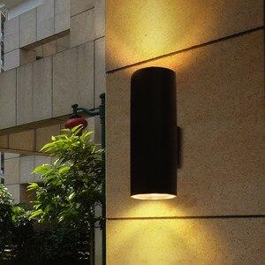 Image 2 - BEIAIDI 6/10/18/24W yukarı aşağı LED sundurma duvar lambası dış mekan silindir Villa avlu Stigma duvar lambası su geçirmez sokak aydınlatma