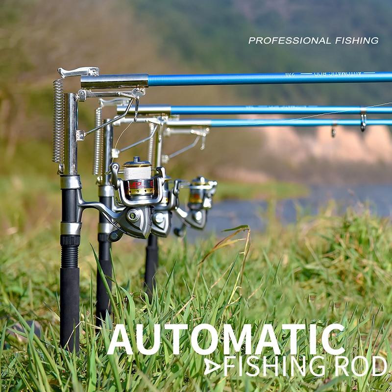 Automatic Fishing Rod 1.8-2.7M Sea River Fishing Telescopic Rod Spinning Ring Rod Self-Tapping Fishing Rod