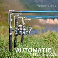 Automatic Fishing Rod 1.8 2.7M Sea River Fishing Telescopic Rod Spinning Ring Rod Self Tapping Fishing Rod|Fishing Rods| |  -