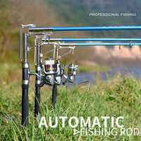 Automatic Fishing Rod 1.8-2.7M Sea River Fishing Telescopic Rod Spinning Ring Rod Self-Tapping Fishing Rod