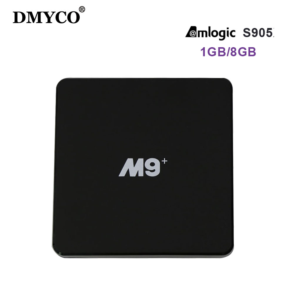 DMYCO Fully loaded M9+ Smart Android TV Box 1GB/8GB Amlogic S905 Set top box Quad Core KD 16.0 4K WiFi Miracast DLNA TV Boxes m8 fully loaded xbmc amlogic s802 android tv box quad core 2g 8g mali450 4k 2 4g 5g dual wifi pre installed apk add ons