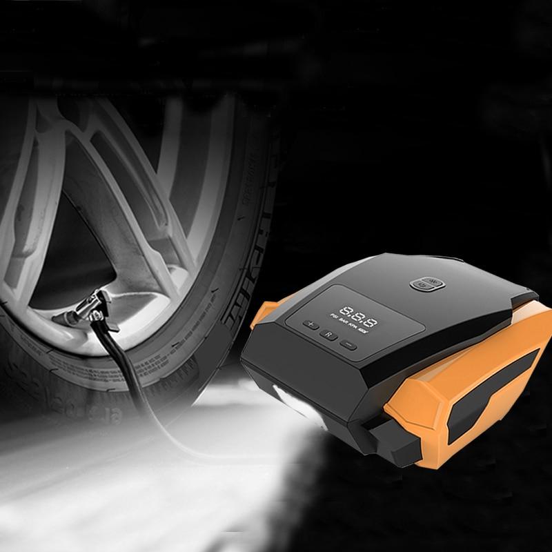 Car Inflatable Pump Portable 12V Electronic Air Compressor Auto Mini Travel Tire Inflata ...