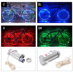 20 светодиодных велосипедных спиц, безопасная велосипедная Ночная лампа, колесные огни, модные крутые MTB велосипедные части, ступица, водоне...