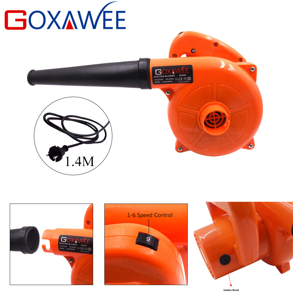 GOXAWEE 220V 600W Electric Air Blower Fan Ventilation Dust Collector Industrial Blower for Removing Dirt Cleaning For Computer in Blowers from Tools