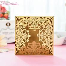 PATIMATE Openwork Wood Wedding Card Box Decoration Money Invitations Decor Mariage Party Supplies