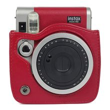 Reteo PU Leather Camera Bag Protective Case Pouch Cover with Shoulder Strap for Polaroid for Fujifilm Instax Mini 9 Cameras цена 2017
