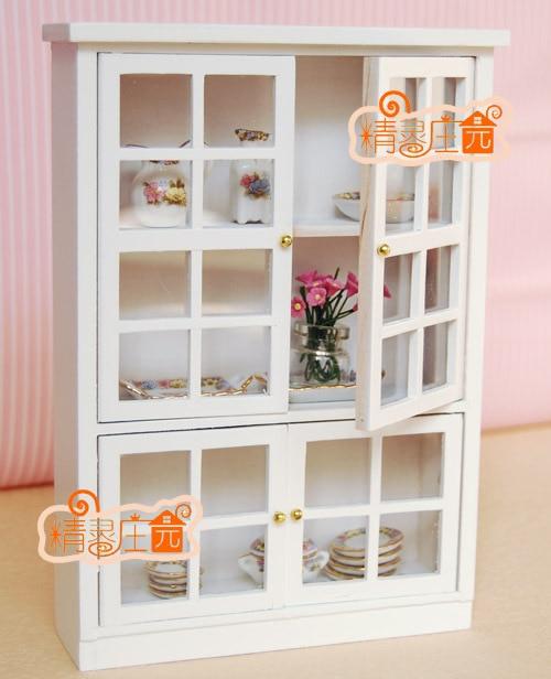 1:12 кукольный миниатюрный мебель модель белоснежной плед дверь многоцелевой шкаф современный краткое