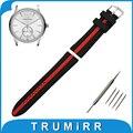 19mm 20mm 21mm 22mm 23mm 24mm Caucho de Silicona Watch Band para armani correa de pulsera pulsera de la correa negro rojo + barra de resorte + herramienta