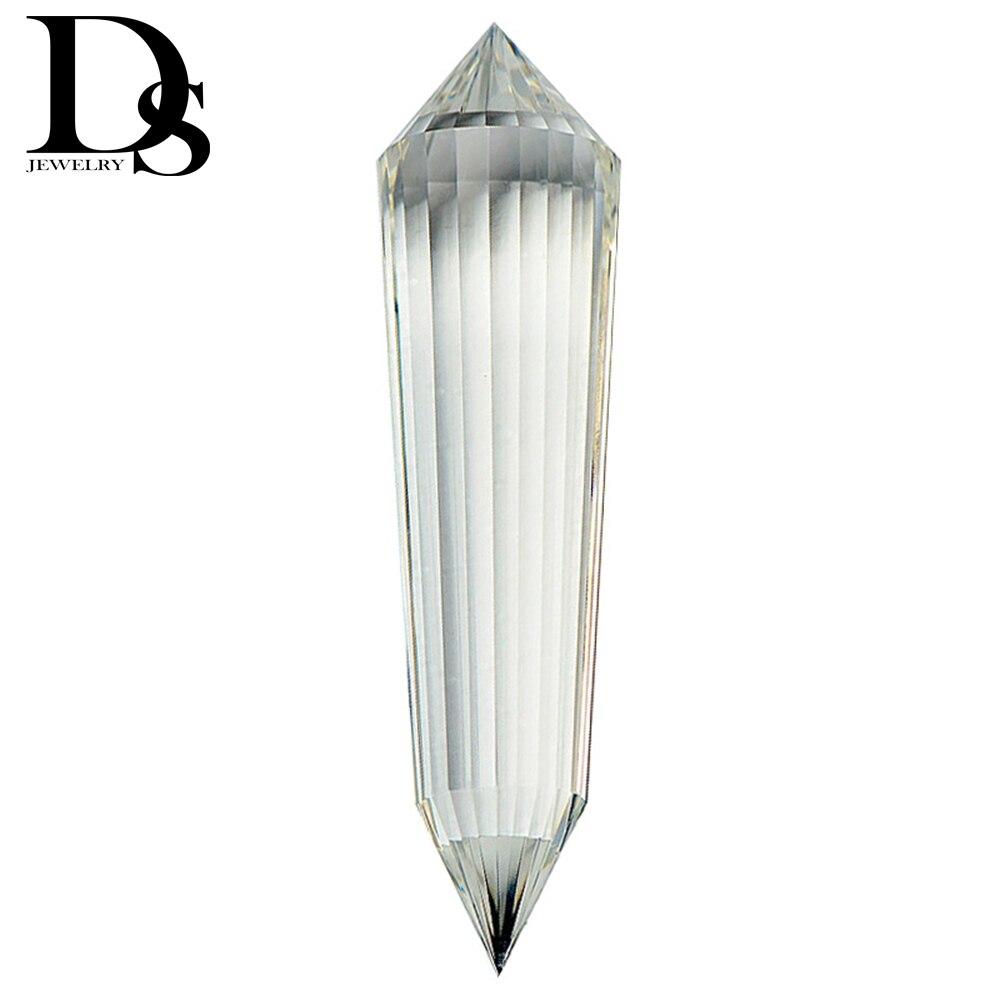 Hight Qualidade 12 24 Dupla Face Dupla Face Limpar Vogel Estilo Cristal de Quartzo Varinha Ponto Wand Cura Reiki Cristal Inspirado Espiritual