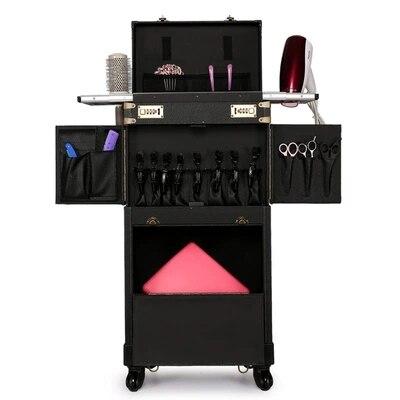 Bagage de maquillage multifonctionnel Style rétro CARRYLOVE outils de coiffure professionnels valise personnalisée de marque - 3