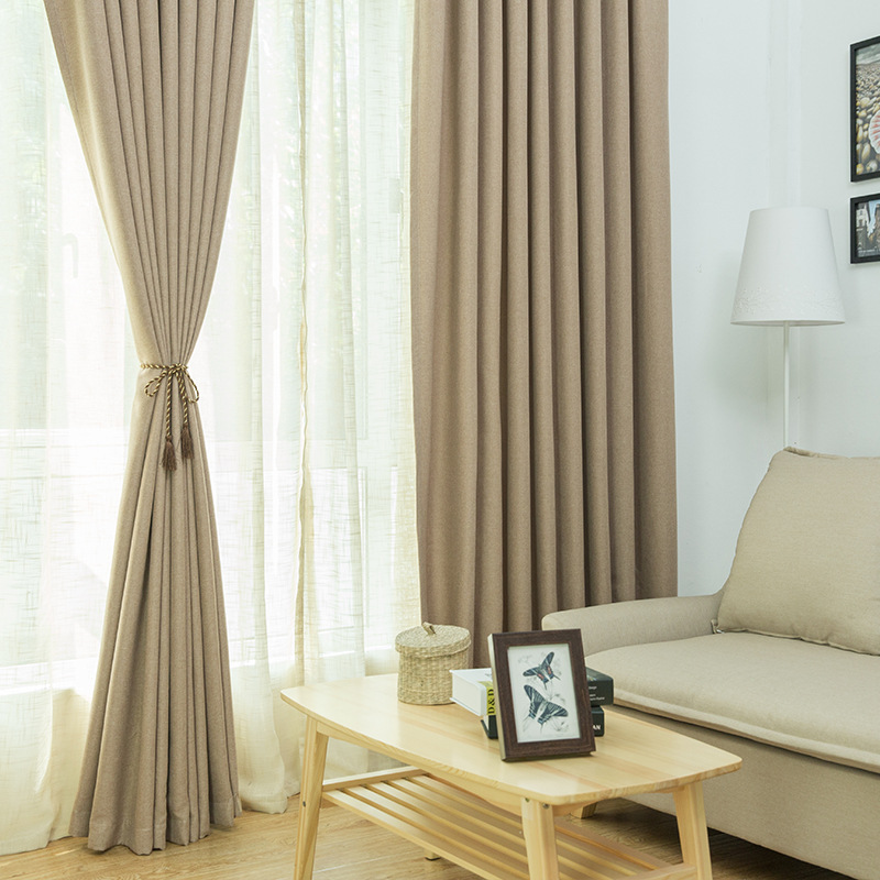 Byetee Modern Living Room Luxury Window Curtains Striped: [byetee] Modern Pure Color Window Door Curtain Fabric