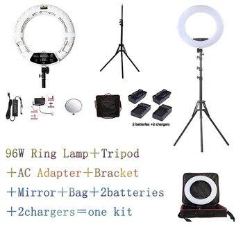 White FD-480II LED Ring lamp Light Make up Lighting sefie ring lamp set + standing (2M)+ bag + batteries CD50